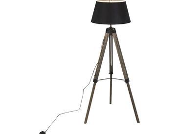 Industrie Industrielle Stehlampe auf hölzernem Stativ mit