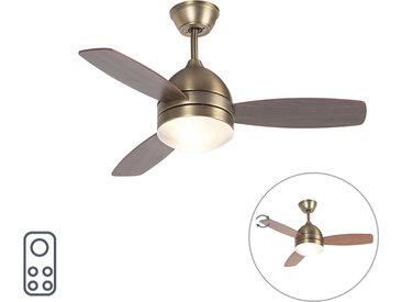 Modern Deckenventilator Bronze 2 Lichter mit Fernbedienung -