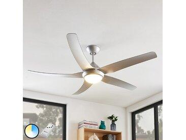 Modern Deckenventilator silber inkl. LED und Fernbedienung - Dora