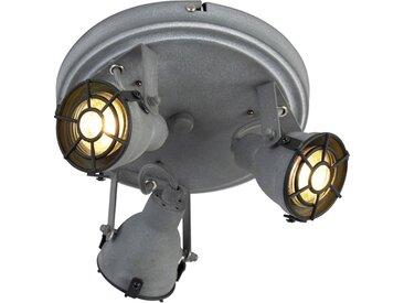 Industrie Robuster Spot Betonlook 3-flammig - Medox GU10