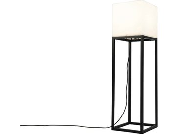 Design Außen Stehlampe schwarz IP44 mit weißem Schattenquadrat -