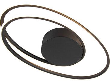 Design,Modern Design Deckenleuchte schwarz inkl. LED 3-stufig