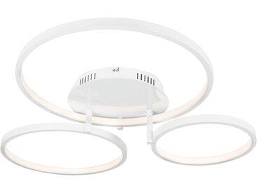 Modern Moderne Deckenleuchte weiß inkl. LED und Dimmer Rondas