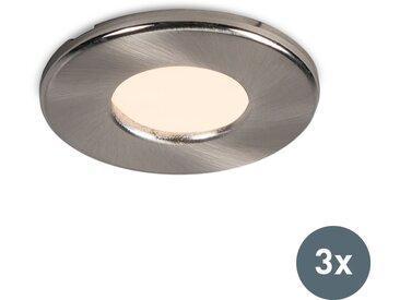 Modern Modernes, rundes, versenktes Spot-Set mit 3 IP44-Löchern