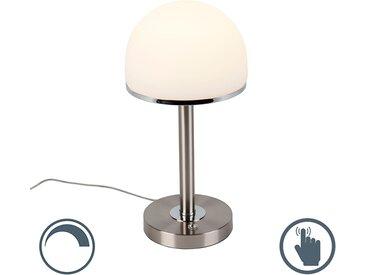 Modern Vintage Tischleuchte Stahl inkl. LED mit Touch-Funktion -