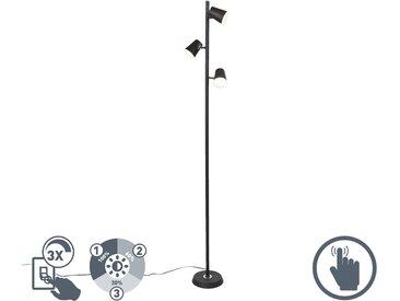 Modern Moderne Stehleuchte schwarz 3-flammig inkl. LED dimmbar -