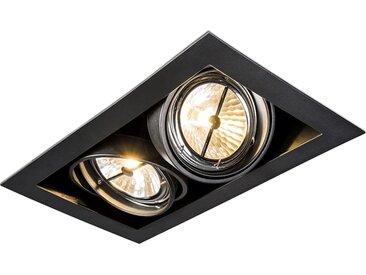 Design,Modern Einbaustrahler schwarz schwenkbar 2-flammig - Oneon