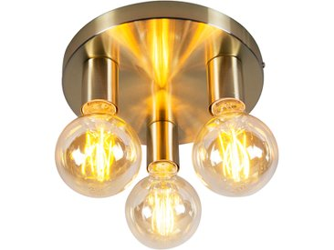Design,Modern Art Deco Deckenleuchte Gold - Facil 3 E27