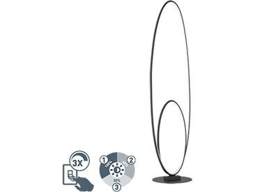 Modern Design Stehleuchte schwarz inkl. LED 3-stufig dimmbar -