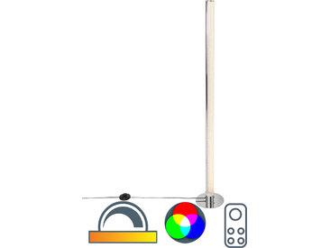 Design Vloerlamp staal incl. LED en dimmer met afstandbediening -