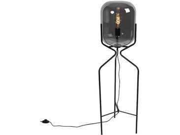 Design Design Stehleuchte schwarz mit Rauchglas - Bliss E27