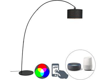 Modern Intelligente moderne Bogenlampe schwarz inkl. A60 Wifi -