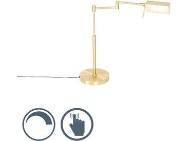 Modern Design Tischleuchte Gold inkl. LED mit Touch Dimmer -