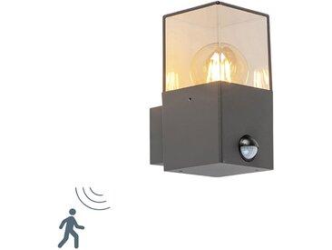 Modern Außenwandleuchte dunkelgrau mit Bewegungsmelder IP44 -