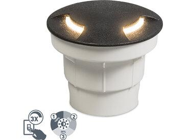 Modern Moderner Outdoor Bodenstrahler schwarz inkl. LED IP67 -