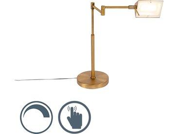 Modern Design Tischleuchte Bronze inkl. LED mit Touch Dimmer -