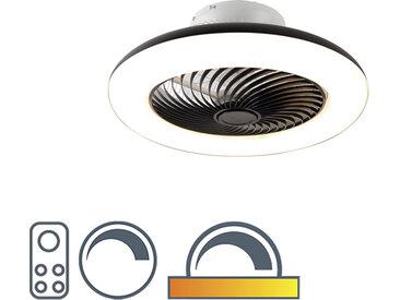 Design Deckenventilator schwarz inkl. LED mit Fernbedienung -