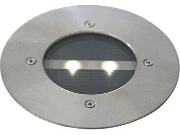 Modern Moderne Boden Spot Stahl Solarenergie Set von 5 IP44 -