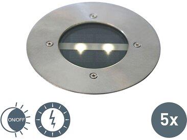 Design,Modern Moderne Boden Spot Stahl Solarenergie Set von 5