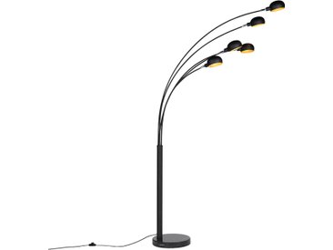 Modern,Design Design Stehleuchte schwarz 5-Licht - Sixties Marmo
