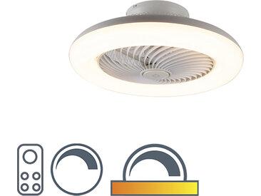 Design Design Deckenventilator weiß inkl. LED dimmbar - Clima
