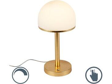 Modern Vintage Tischleuchte Gold inkl. LED und Touchfunktion -