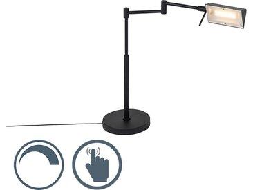 Modern Design Tischleuchte schwarz inkl. LED mit Touch Dimmer -