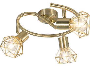 Modern Art Deco Spot Messing drehbar und neigbar - Mosh 3 E14