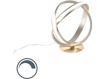 Modern Moderne Tischlampe Stahl LED inkl. Dimmer - Belinda (nicht
