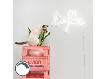 Design,Modern Wandleuchte weiß mit Fernbedienung inkl. LED - Neon