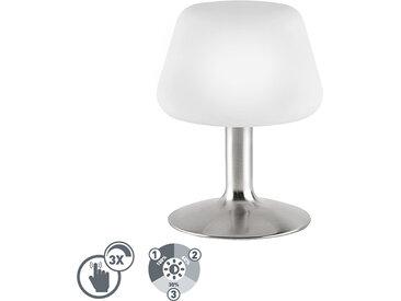 Modern Tischleuchte Stahl mit 3-Stufen-Touch-Dimmer inkl. LED -