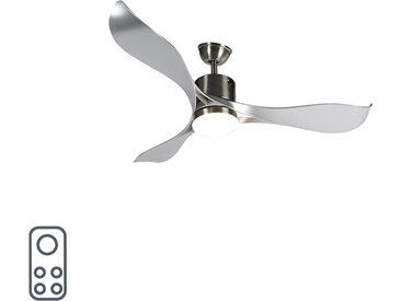 Modern Deckenventilator Stahl inkl. LED und Fernbedienung - Kolm