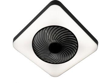 Design Deckenventilator quadratisch schwarz inkl. LED dimmbar -