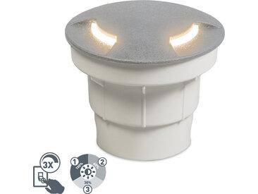 Modern Moderner Outdoor-Bodenstrahler grau inkl. LED IP67 - Ceci