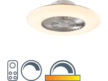 Design Deckenventilator silber inkl. LED mit dimmbarem