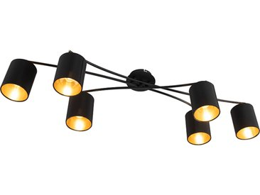 Modern Moderne Deckenleuchte schwarz 6-Flammig - Lofty E14