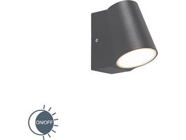 Modern Außenleuchte anthrazit mit Hell-Dunkel-Sensor inkl. LED -