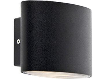 Modern Moderne Außenwandleuchte schwarz IP44 inkl. LED - Ovum