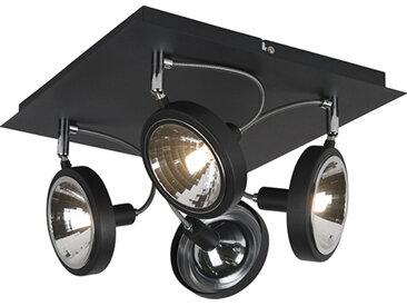 Modern Design Spot schwarz 4-flammig verstellbar - Nox G9