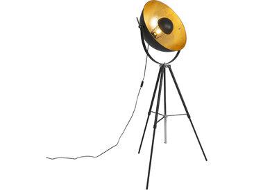 Industrie Stehlampe schwarz mit gold 51 cm verstellbarem Stativ -