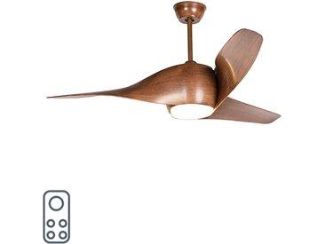 Modern Holz Deckenventilator inkl. LED mit Fernbedienung -