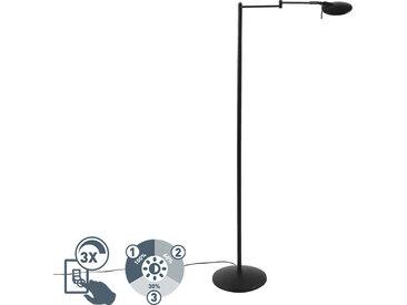 Modern Moderne schwenkbare Leselampe schwarz inkl. LED und Dimmer