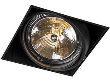 Modern Einbauspot schwarz AR111 - Oneon 111-1 Trimless G53