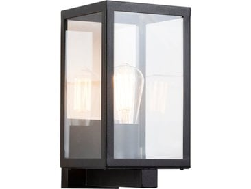 Modern Moderne rechteckige Außenwandleuchte schwarz mit Glas -