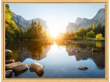Fotoleinwand im Schattenfugen Rahmen Natur für Fotos auf Leinwand im Format 75 x 50 cm