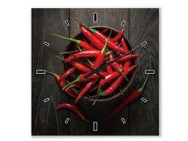 ImageLand Wanduhr Rote Chilies