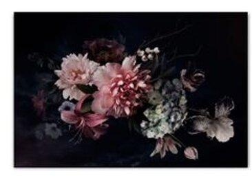 ImageLand Glasbild Digitaldruck Blüten in Purpurrot II
