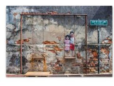 ImageLand Glasbild Digitaldruck Street Art mit Schaukel