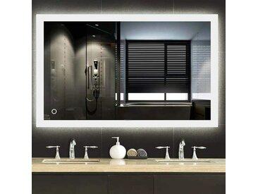 ® LED Badspiegel Badezimmerspiegel mit Beleuchtung Wandspiegel mit Touch-Funktion 80x60cm - Wyctin