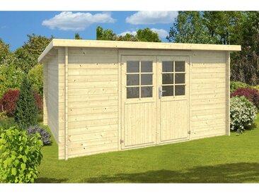 Der Holzwurm - 34 mm Gartenhaus Sarah - ca. 400x300 cm unbehandelt